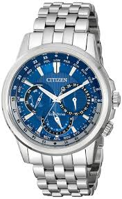 citizen eco drive men s bu2021 51l calendrier stainless steel citizen eco drive men s bu2021 51l calendrier stainless steel watch amazon co uk watches