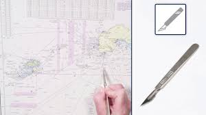 An Explanation Of Equipment And Tools Used When Updating An Admiralty Standard Nautical Chart