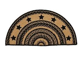 wondrous large half circle rugs braided at primitive star quilt