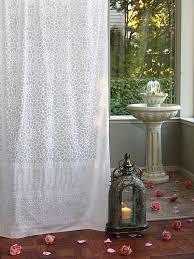 royal mansour moroccan white lattice trellis print curtain