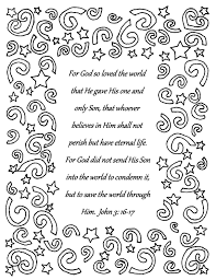 For God So Loved The World Coloring Page Wumingme