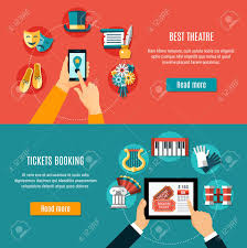 Two Theatre Flyer Set With Tickets Booking Design Illustration
