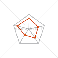 Free Pentagon On Graph Paper Vector Image 1621647 Stockunlimited