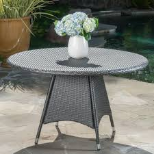 outdoor round dining table. Corsica Outdoor Wicker Round Dining Table (ONLY) By Christopher Knight Home - Free Shipping Today Overstock 18378065 U