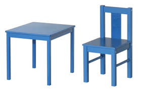 blue kids furniture. This Seems Pretty Great: A Chalkboard Table That Kids Can Draw Directly On With Indented Center To Hold Chalk. Tabula Rasa, Baby. Blue Furniture R