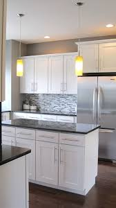 White Kitchen Cabinets With Grey Countertops