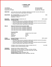 How To Write A Simple Job Resume One Employer Resume Sample Memo Example
