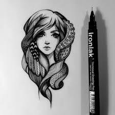 Pretty Drawing Illustration Art Girl Design Patterns Portrait Artist