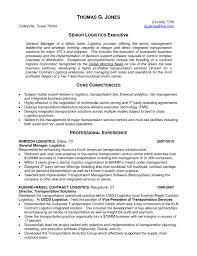 Senior Logistic Management Resume Logistics Executive In