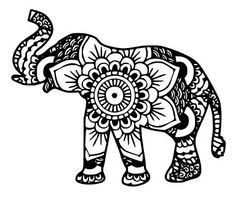 elephant coloring page.  Elephant Elephant Mandala  Cutting Files Svg Eps Dxf Png Pdf In Coloring Page O