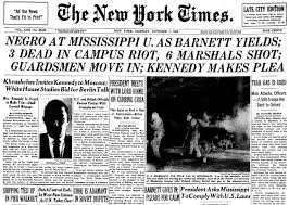 "New York Times OTD on Twitter: ""The front page #OTD in 1962. James Meredith enters the University of Mississippi, defying racial segregation rules. #nytimes… https://t.co/myVPUzlJQk"""
