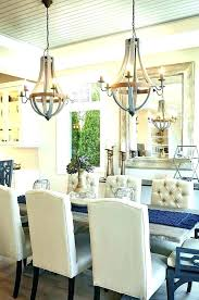 chandelier height above dining table impressive chandelier