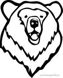 Small Picture Bears Coloring Page For Toddlers Bear head
