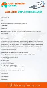 Cover Letter For Schengen Visa Samples And Writing Techniques