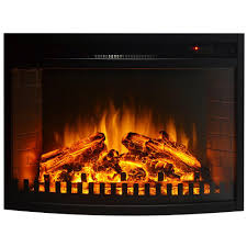 26 inch curved ventless electric space heater built in recessed firebox fireplace insert