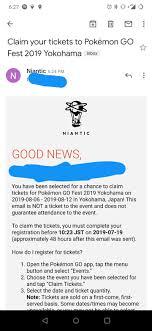 New go fest yokohama email wave : TheSilphRoad