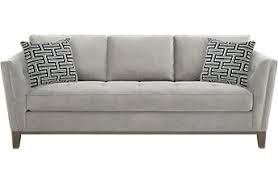 white pull out couch.  Couch Cindy Crawford Home Park Boulevard Smoke Sleeper Throughout White Pull Out Couch E
