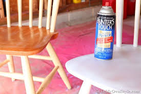 paint for wood furnitureFurniture Makeover Spray Painting Wood Chairs  In My Own Style