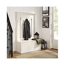 White Coat Rack With Storage Wood Hall Tree Coat Rack Storage Entryway Bench Organizer White Coat 96