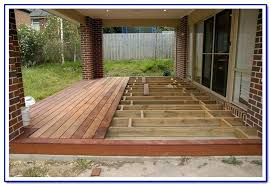 deck over concrete tasty floating patio design build footings precast