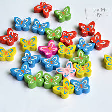 10pcs 15*19MM Mixed Color small Butterfly shape Wood <b>Beads</b> for ...