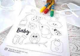 Süße Babyparty Malvorlagen Gratis Download Baby Belly Party Blog