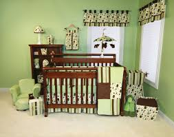 Genuine Ideas Monkey Baby Nursery Designs Cabinets Brown Fresh Atmosphere  Green Colors Background Abstract Shapes Pattern Decorations Room