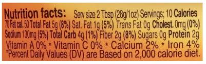 sabra clic hummus nutrition facts