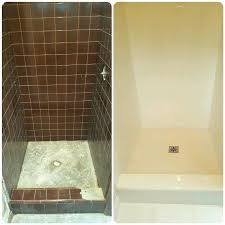 reglazing shower the bathtub guy who can a showers walls dam plus the floor reglazing fiberglass shower tub