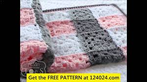 Free Crochet Patterns For Beginners Interesting Free Crochet Baby Blanket For Beginners YouTube
