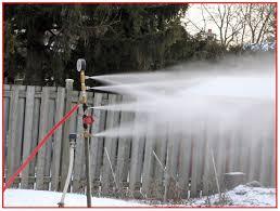 snow making attachment for garden hose
