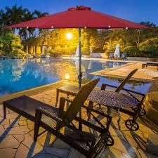 outdoor umbrella patio garden pool