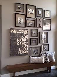 Entry Way Ideas Little Too Busy On The Wall But Cute Idea  Our Wall Picture Frames For Living Room