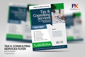 Tax Flyers Designs Tax Consulting Services Flyer Poster Template