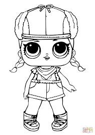 Lol Doll Brrr Coloring Page Free Printable Pages Super Coloring Pages
