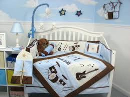 baby nursery bedding sets bedding sets designs image blue and brown rock band baby crib nursery