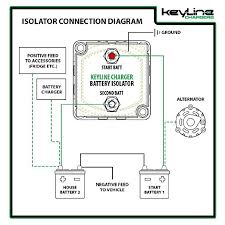 amazon com 140 amp dual battery isolator by keyline chargers (iso pac 200 battery isolator wiring diagram at Stinger Sgp32 Wiring Diagram