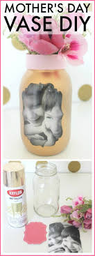 Easy Mother S Day Photo Vase Craft Craft Easy And Gift