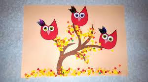 Die Eulen Herbst Basteln Mit Papier Mit Schablone Zum Download Youtube