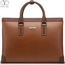 <b>men</b> style <b>YINTE Men's</b> Briefcase <b>Leather Men</b> Handbag Business ...