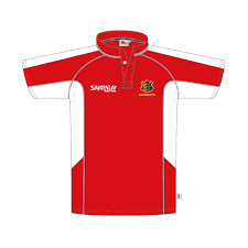 brighltingsea rugby club stock shirt a red white