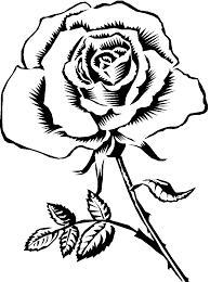 Rose Flower Clip Art Coloring Pages Get Coloring Pages