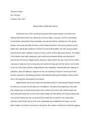 abigail adams essay nicole cullen abigail adams essay period i  3 pages abigail adams essay