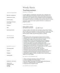 Teacher Assistant Resume Objective Teacher Assistant Resume Sample