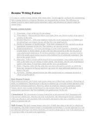 Resume Writing Format Docx Resume Technology