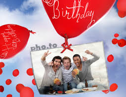 Happy birthday cake card or animated image is an awesome choice for anyone in your life, from a family. Birthday Card With Flying Balloons Printable Photo Template