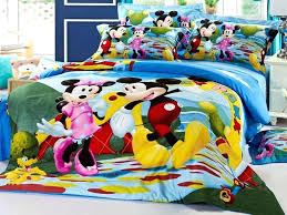 mickey mouse toddler bed duvet size uk