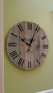 30 rustic wall clock pallet clock large wall clock reclaimed wood clock unique wall clock personalized wedding gift anniversary gift