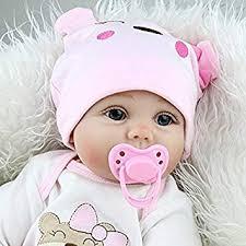 Amazon.com : Realistic Real Life Reborn Baby Dolls Girl Silicone ...