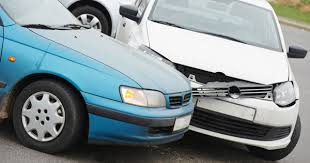 minor car accident. two cars in a minor bender car accident v